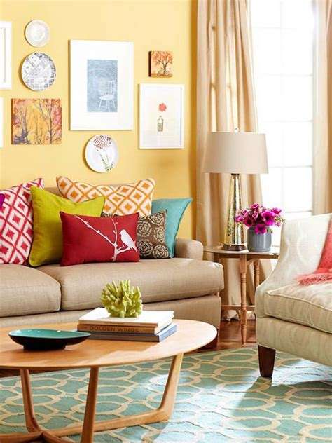 Decorating Ideas For Living Room With Yellow Walls Id 233 E D 233 Co Petit Salon Maximiser L Espace 224 L Aide D Accents