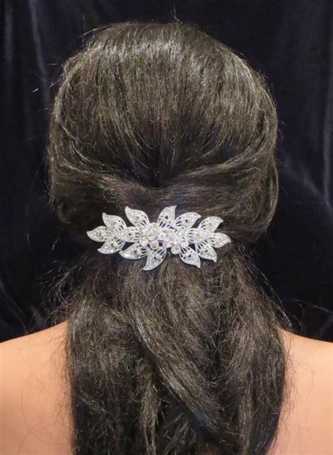 Wedding Hair With Clip by Wedding Hair Clip Wedding Hair Barrette Rhinestone Hair