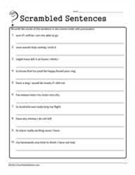Scrambled Sentences Worksheets by Worksheets