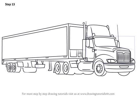 how to draw a boat on a trailer learn how to draw a truck and trailer trucks step by