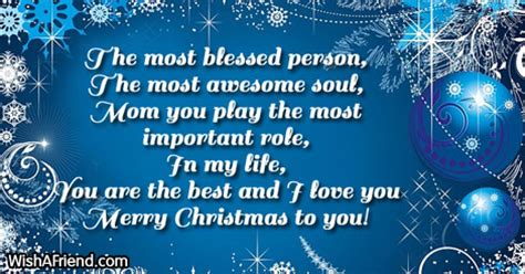 blessed person   christmas messages  mom