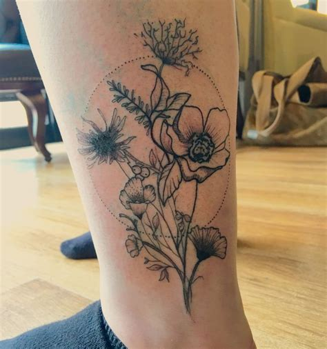wild flower tattoo designs flower designs pictures to pin on