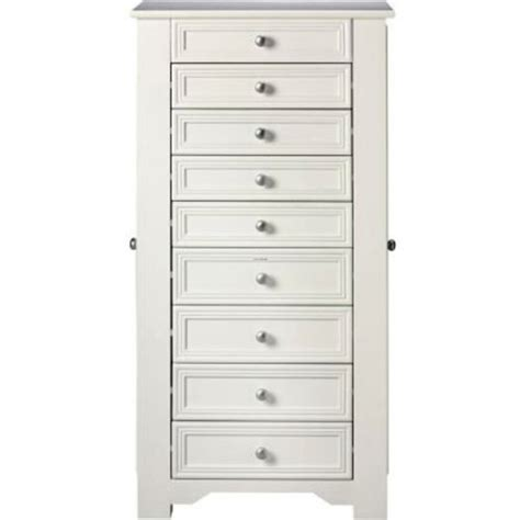 jewelry armoire clearance oxford jewelry armoire i 8 drawer white visual bookmark 2521