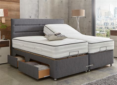 westwood mattress  premium slate adjustable divan bed medium firm dreams