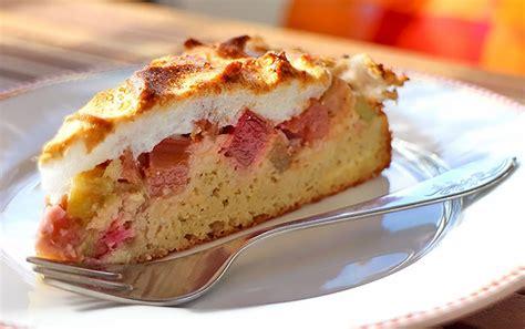 rhabarber baiser kuchen low carb rezept rhabarber baiser kuchen