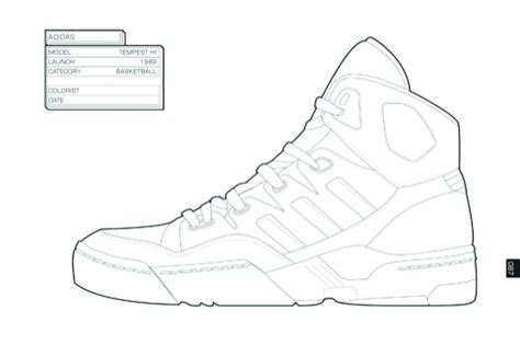 Adidas Shoe Template by Adidas Shoes Drawing Coloring Pages
