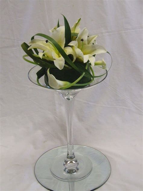 Flower Arrangements In Martini Glass Vases martini vase arrangements vases sale