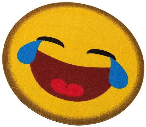 home emoji teppich rund my home 187 emoji lachend 171 getuftet otto