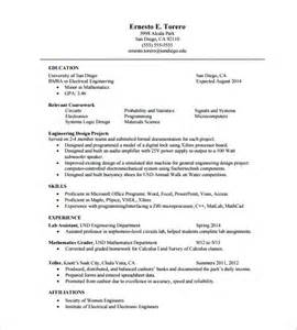 Free One Page Resume Template by One Page Resume Template 11 Free Word Excel Pdf