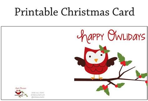 printable owl card 7 best images of printable owl christmas cards cute