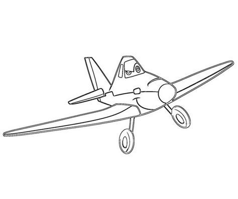 Dusty Planes Coloring Pages by Disney Planes Dusty Is Confident To Win The Race In