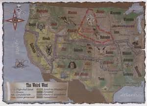 Deadlands map all things victorian era to wild west pinterest