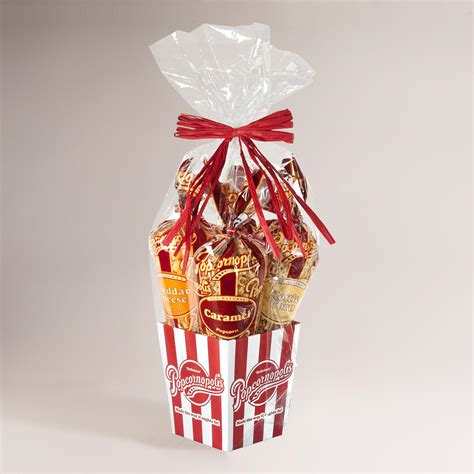 Cheap Home Decor Online Stores by Popcornopolis 4 Cone Classic Gourmet Popcorn Gift Basket