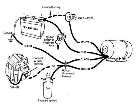 diy tachometer wiring diagram