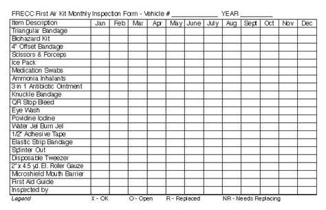 Gerald Printing Order Printing Aid Kit Checklist Template