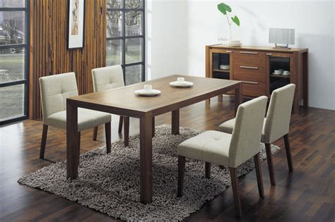 Glass Dining Room Table Contemporary Overnice Wooden With Glass Top Fabric Seats Designer