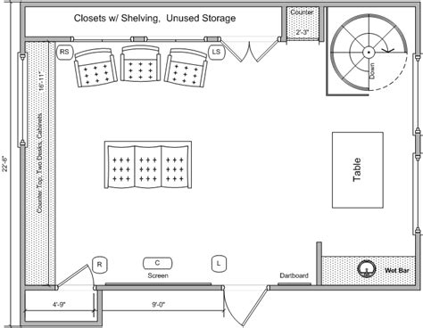 home theatre room floor plans