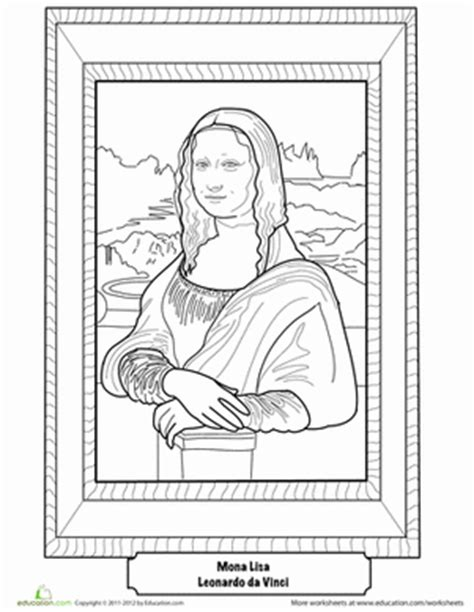 leonardo da vinci biography for 4th graders mona lisa worksheet education com