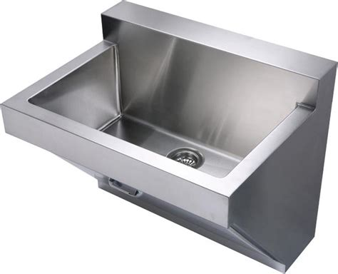 Kitchen And Utility Sinks Whitehaus Stainless Steel Wall Mount Commercial Utility Sink Whnc3022w With Front Access Panel