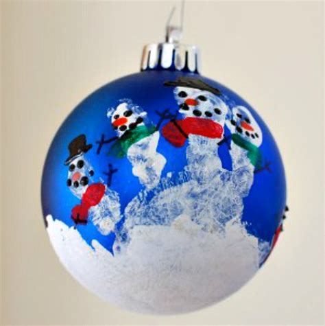 handprint snowman ornament  days  homemade holiday