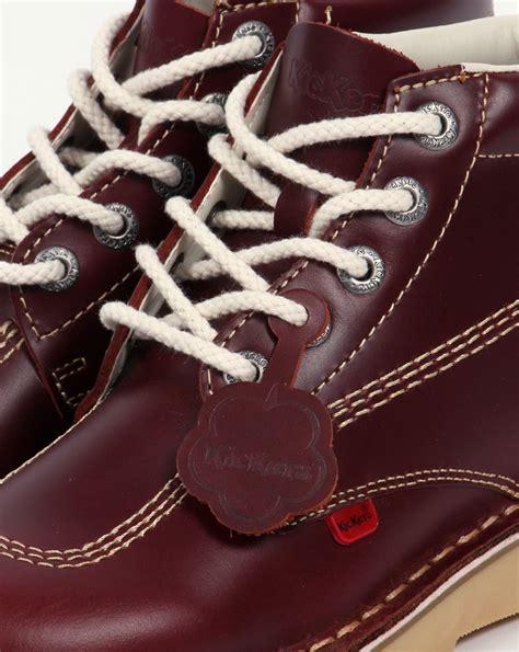 Sepatu Kickers Brontosaurus Casual Brown Leather kickers kick hi boots in leather cherry brown 0