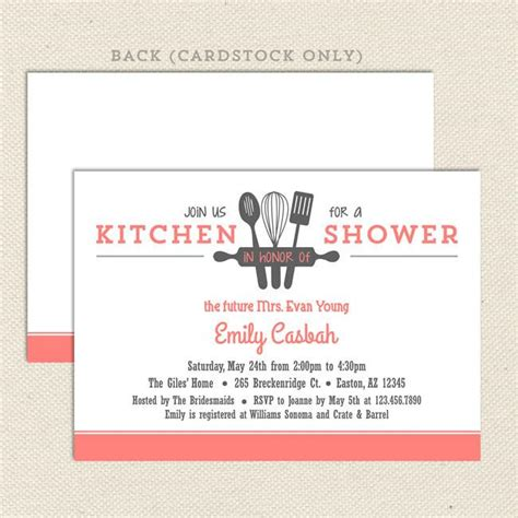 Kitchen Bridal Shower Invitations by Kitchen Bridal Shower Invitations Lil Sprout Greetings