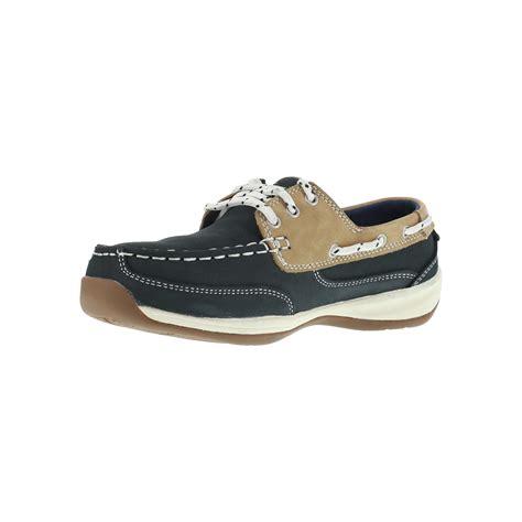 navy boat shoes womens rockport women s navy blue boat shoe steel toe rk670
