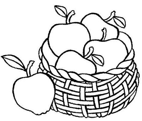 apple clipart coloring page basket of apples coloring page clipart best clipart best