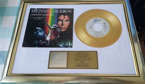 Checar Record Criminal En Usa Gratis Michael Jackson Smooth Criminal Gold Record Commemorate Sale Of More Than