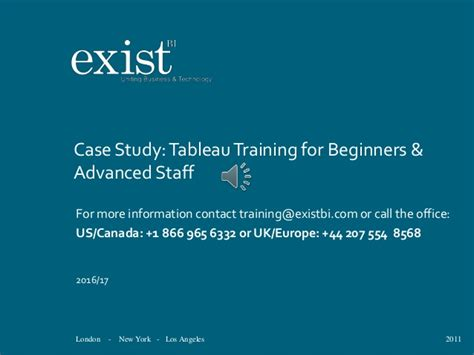tableau tutorial for beginners ppt tableau training case study 2017
