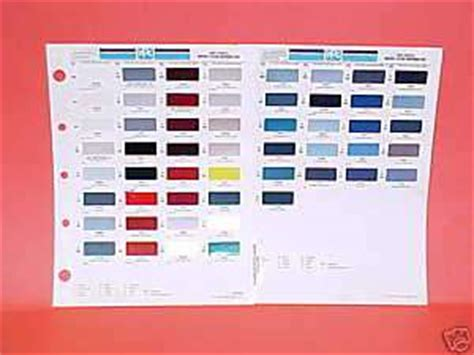 car paint color charts on popscreen