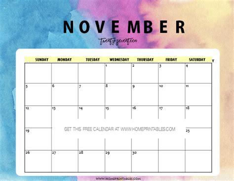 printable november 2017 calendar pretty free november 2017 calendar printable pretty prints