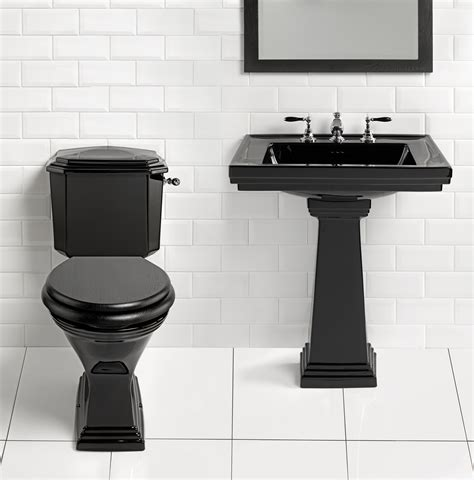 bathroom with black toilet simply black astoria deco imperial bathrooms