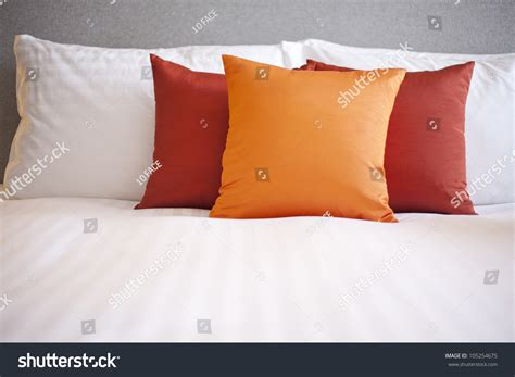 colorful bed pillows colorful pillow on hotel bed stock photo 105254675