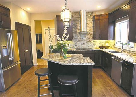 angled island for the home pinterest kitchens with posh but practical winnipeg free press homes