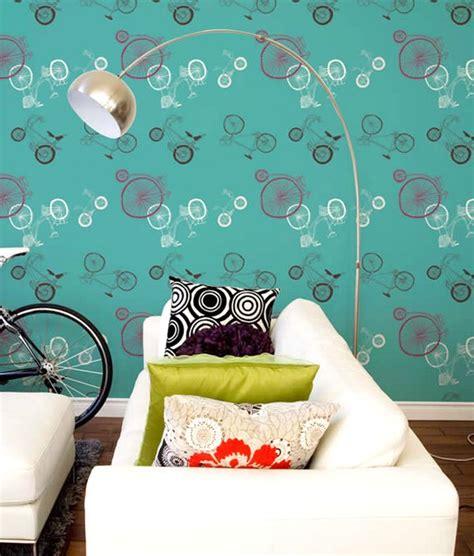 wallpaper biru cantik 65 desain wallpaper dinding ruang tamu minimalis terbaru