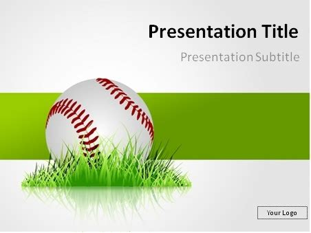 Download Free Baseball In The Grass Powerpoint Template Baseball Powerpoint Template Free