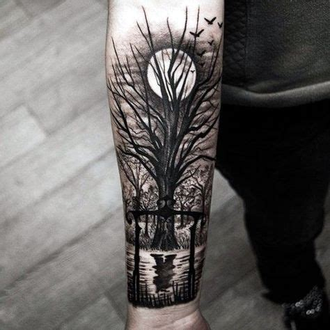 40 deep and super cool forest tattoo ideas forest