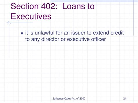 section 402 sarbanes oxley ppt sarbanes oxley act of 2002 powerpoint presentation