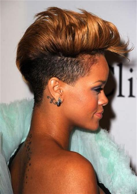 sidecuts hair rihanna shorn nape undercut lack hair of pinterest