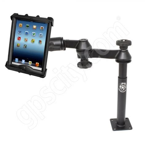 ipad swing arm mount ram mount tele pole dual swing arm mount and cradle for