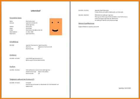 Lebenslauf Muster Arbeitssuchend 8 Lebenslauf Arbeitssuchend Recommendation Template