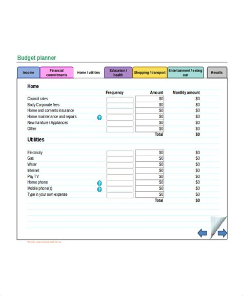 budget maker template excel monthly budget template 18 free excel document
