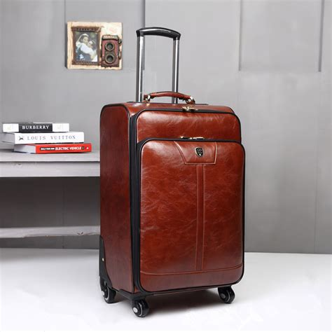 6 In 1 Travelling Bag In Bag Tas Dalam Koper 16 inch pu leather trolley luggage business trolley s suitcase travel luggage rolling