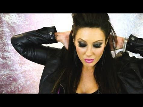 halloween rockstar hairstyles rocker chic style makeup hair outfit youtube