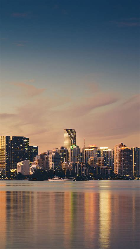 Miami Skyline Iphone Wallpaper