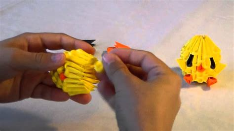 Easy 3d Origami - 3d origami baby chicken