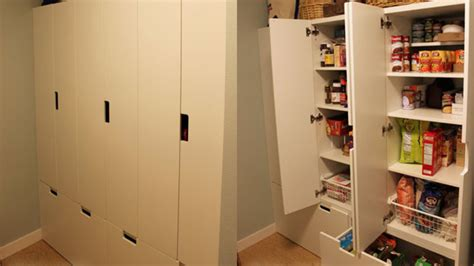 Childrens Storage Cupboards - repurpose ikea childrens storage cabinets into a pantry