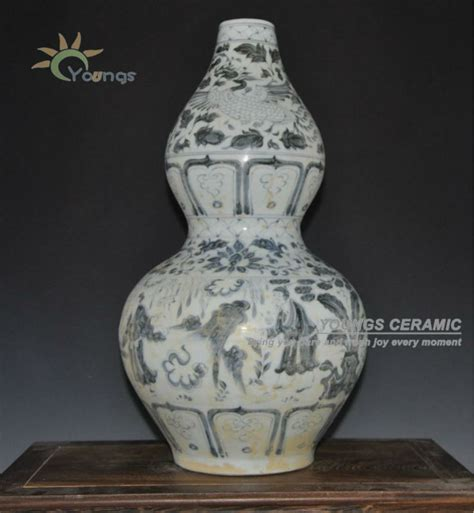 Vase Reproductions by Antique Yuan Reproduction Blue And White Porcelain