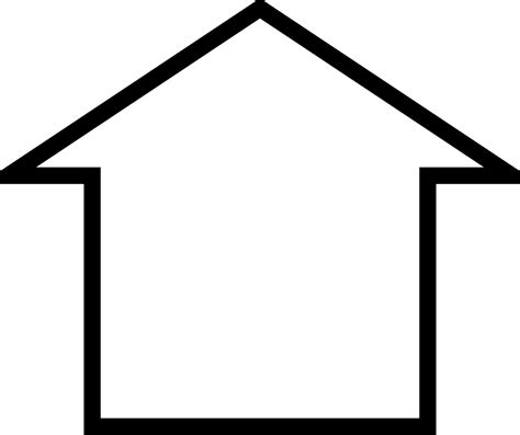 cartoon house outline clipart